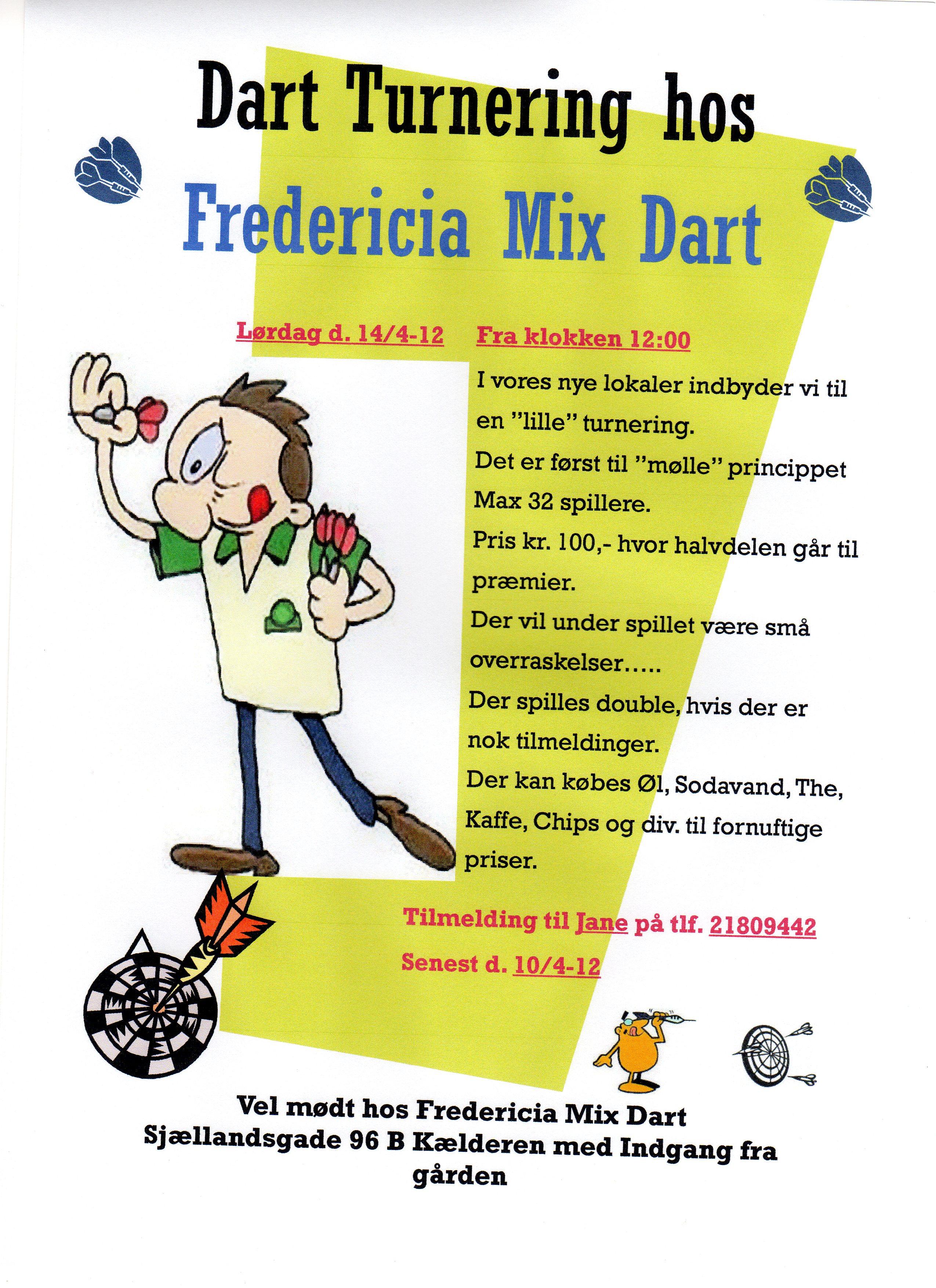 Fredericia Mix Dart Stævne